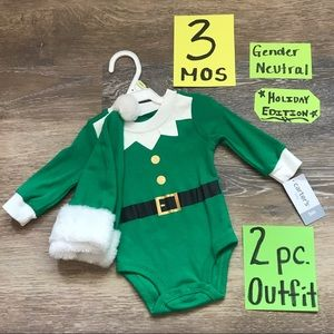 🎄NWT Carter's 3 Month 2pc Christmas Onesie